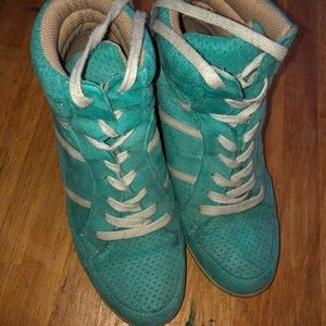 Charlotte Russe wedge sneakers size 7